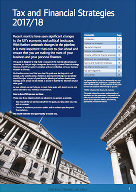 Tax & Financial Strategies pages